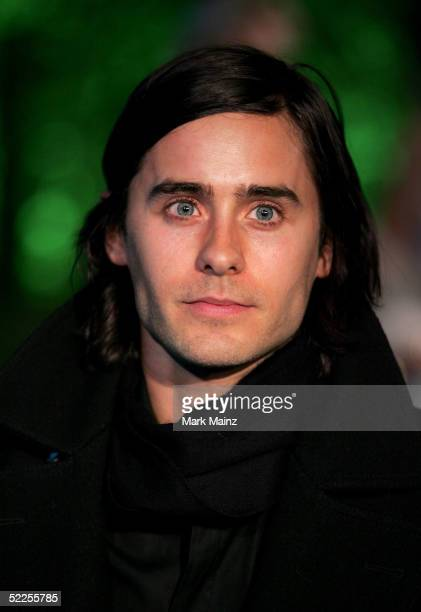 Actor Jared Leto arrives at the Vanity Fair Oscar Party at Mortons on February 27 2005 in West Hollywood California