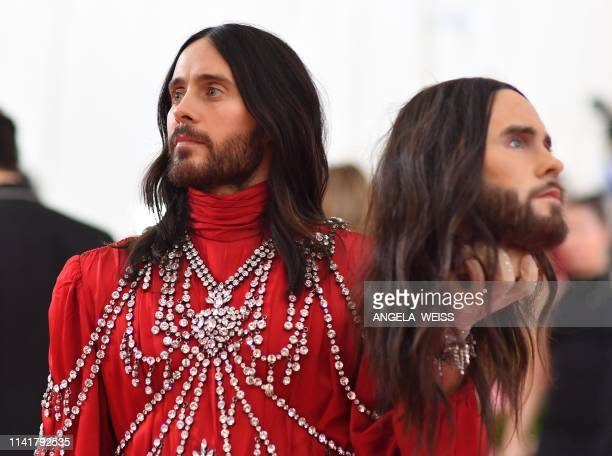Actor Jared Leto arrives for the 2019 Met Gala at the Metropolitan Museum of Art on May 6 in New York. - The Gala raises money for the Metropolitan...