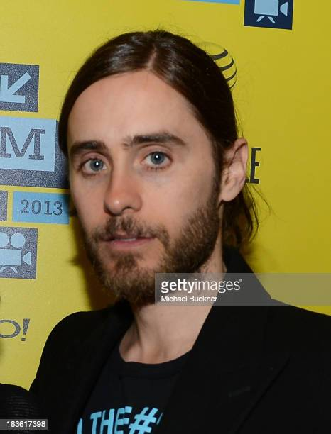 Actor Jared Leto arrives to the screening of 'Artifact' during the 2013 SXSW Music Film Interactive Festival at the Paramount Theatre on March 13...