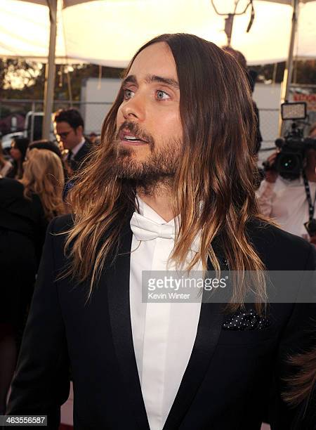 Actor Jared Leto attends 20th Annual Screen Actors Guild Awards at The Shrine Auditorium on January 18 2014 in Los Angeles California