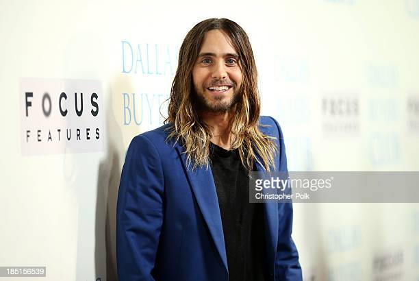 Actor Jared Leto attends Focus Features' 'Dallas Buyers Club' premiere at the Academy of Motion Picture Arts and Sciences on October 17 2013 in...