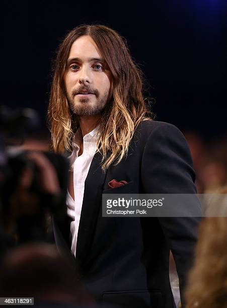 Actor Jared Leto attends the 19th Annual Critics' Choice Movie Awards at Barker Hangar on January 16 2014 in Santa Monica California