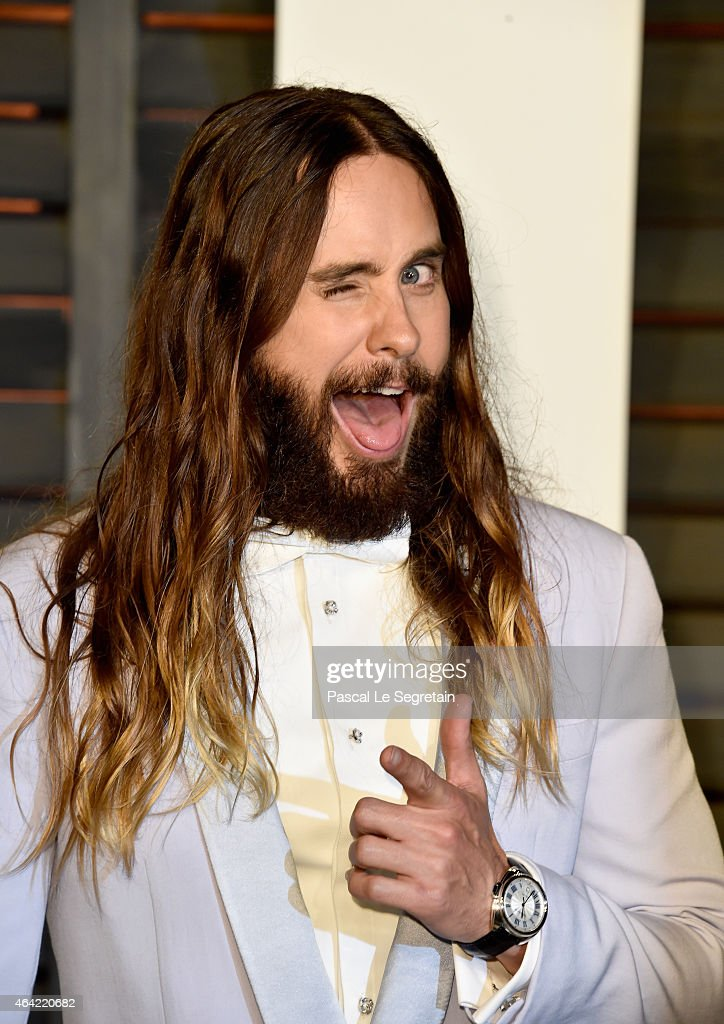 Actor Jared Leto attends the 2015 Vanity Fair Oscar Party hosted by Graydon Carter at Wallis Annenberg Center for the Performing Arts on February 22, 2015 in Beverly Hills, California.