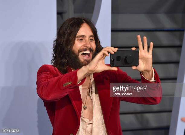 Actor Jared Leto attends the 2018 Vanity Fair Oscar Party hosted by Radhika Jones at Wallis Annenberg Center for the Performing Arts on March 4 2018...