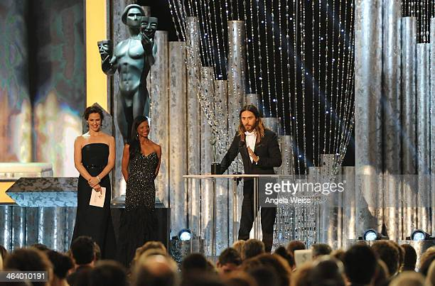 Actor Jared Leto attends the 20th Annual Screen Actors Guild Awards at The Shrine Auditorium on January 18, 2014 in Los Angeles, California.