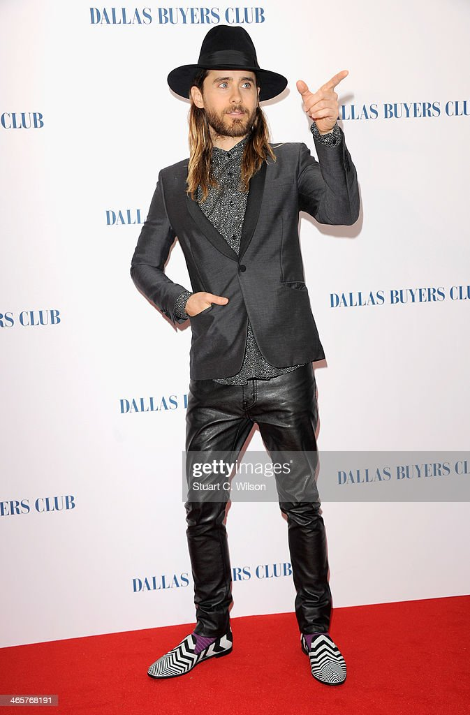 Actor Jared Leto attends the 'Dallas Buyers Club' UK Premiere at the Curzon Mayfair on January 29, 2014 in London, England.