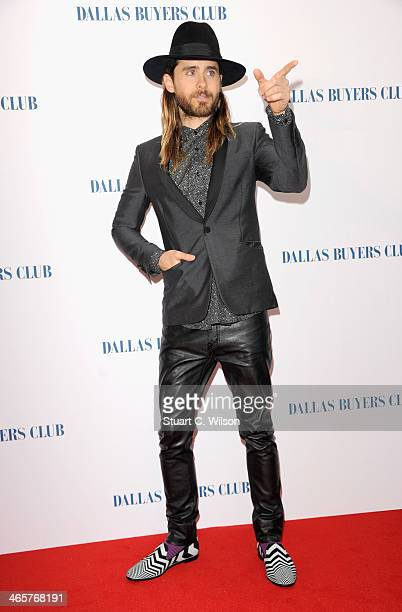 Actor Jared Leto attends the Dallas Buyers Club UK Premiere at the Curzon Mayfair on January 29 2014 in London England