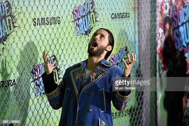 Actor Jared Leto attends the Suicide Squad premiere sponsored by Carrera at Beacon Theatre on August 1 2016 in New York City