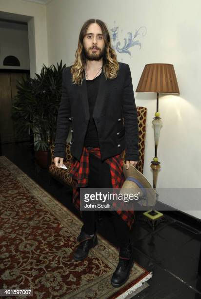 Actor Jared Leto attends the W Magazine celebration of The 'Best Performances' Portfolio and The Golden Globes with Cadillac and Dom Perignon at...