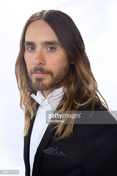 Actor Jared Leto is photographed at the SAG Awards 2014 for Los Angeles Times on January 18 2014 in Los Angeles California