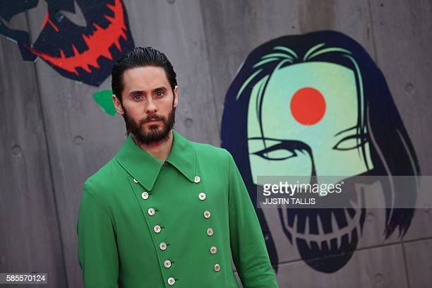 Actor Jared Leto poses as he arrives to attend the European premiere of the film Suicide Squad in central London on August 3, 2016. / AFP / JUSTIN...