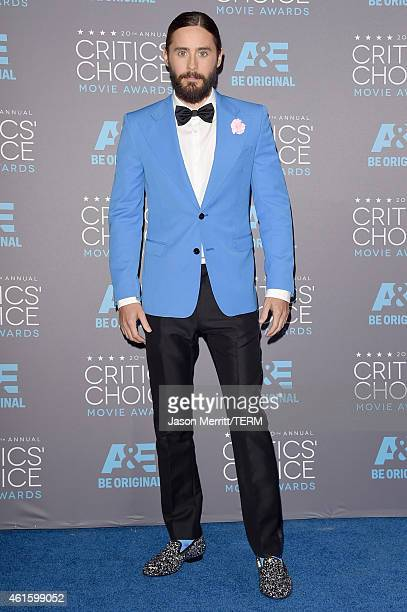 Actor Jared Leto poses in the press room during the 20th annual Critics' Choice Movie Awards at the Hollywood Palladium on January 15 2015 in Los...