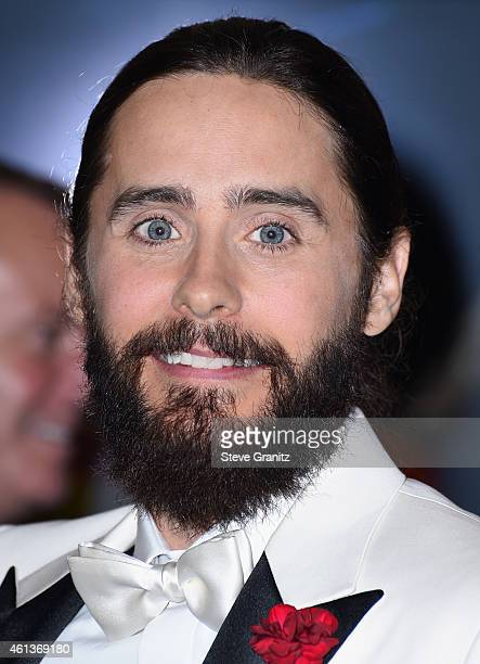 Actor Jared Leto poses in the press room during the 72nd Annual Golden Globe Awards at The Beverly Hilton Hotel on January 11 2015 in Beverly Hills...