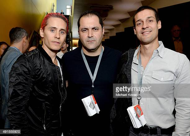 Actor Jared Leto Sherpa Ventures Cofounder Shervin Pishevar and AltSchool Founder Max Ventilla attend the Vanity Fair New Establishment Summit at...
