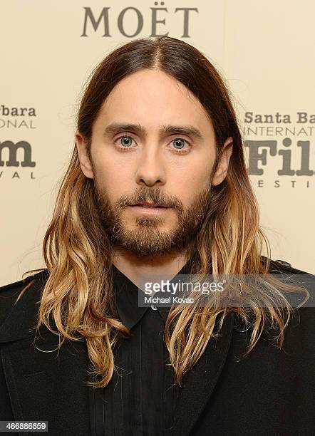 Actor Jared Leto visits The Moet Chandon Lounge before receiving the Virtuosos Award at The Santa Barbara International Film Festival at the...