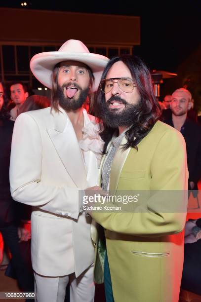 Actor Jared Leto wearing Gucci and Gucci Creative Director Alessandro Michele wearing Gucci attend 2018 LACMA Art Film Gala honoring Catherine Opie...