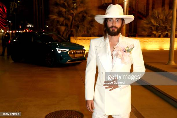 Actor Jared Leto wearing Gucci attends 2018 LACMA Art Film Gala honoring Catherine Opie and Guillermo del Toro presented by Gucci at LACMA on...