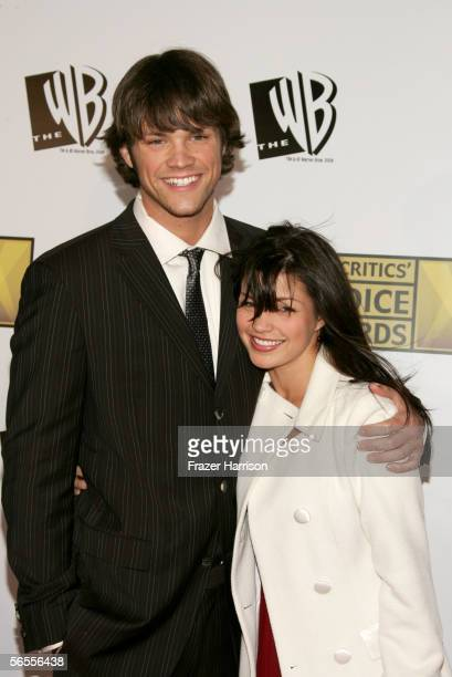 Actor Jared Padalecki and actress Sandra McCoy arrive at the 11th Annual Critics' Choice Awards held at the Santa Monica Civic Auditorium on January...