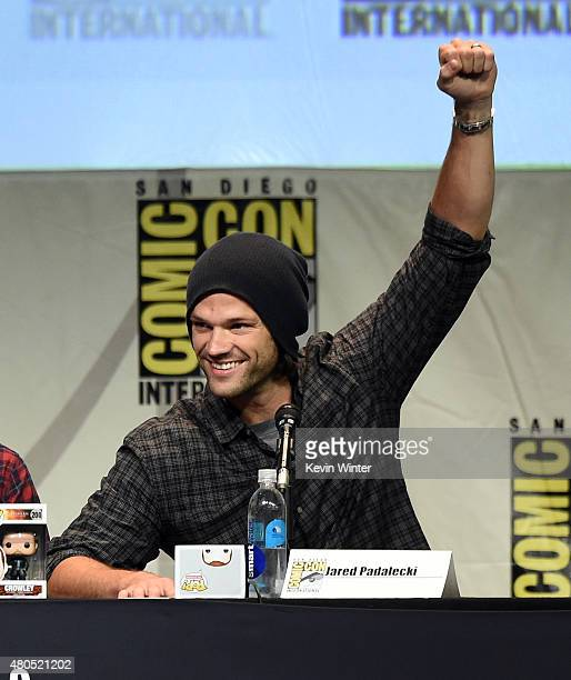 Actor Jared Padalecki appears onstage at the Supernatural panel during ComicCon International 2015 at the San Diego Convention Center on July 12 2015...
