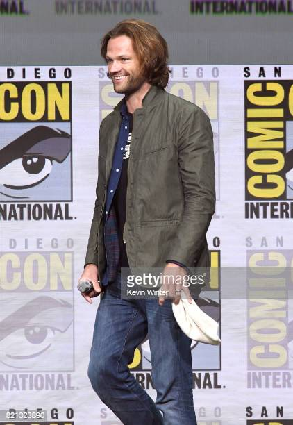 Actor Jared Padalecki at the 'Supernatural' panel during ComicCon International 2017 at San Diego Convention Center on July 23 2017 in San Diego...