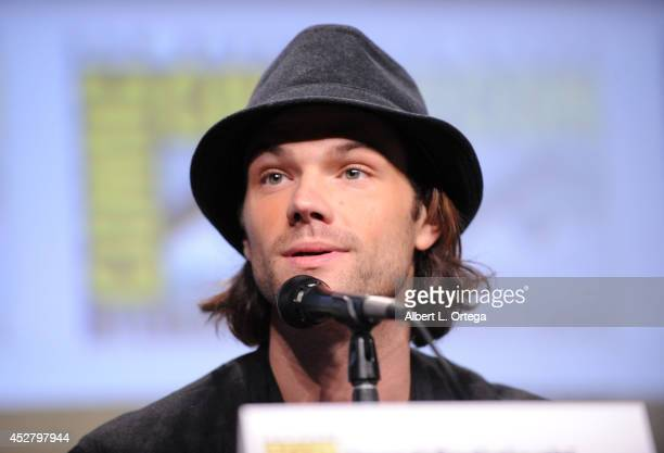 Actor Jared Padalecki attends CW's 'Supernatural' Panel during ComicCon International 2014 at San Diego Convention Center on July 27 2014 in San...