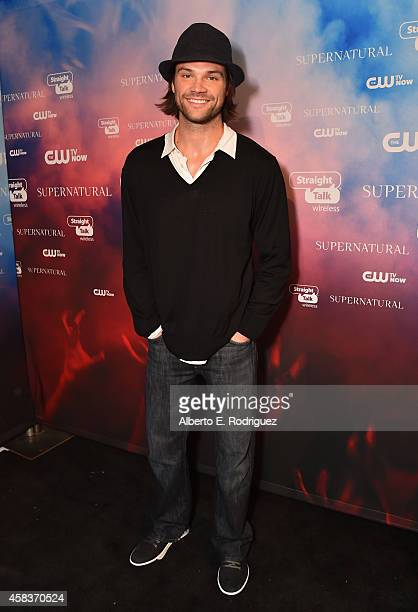 Actor Jared Padalecki attends the CW's Fan Party to Celebrate the 200th episode of 'Supernatural' on November 3 2014 in Los Angeles California
