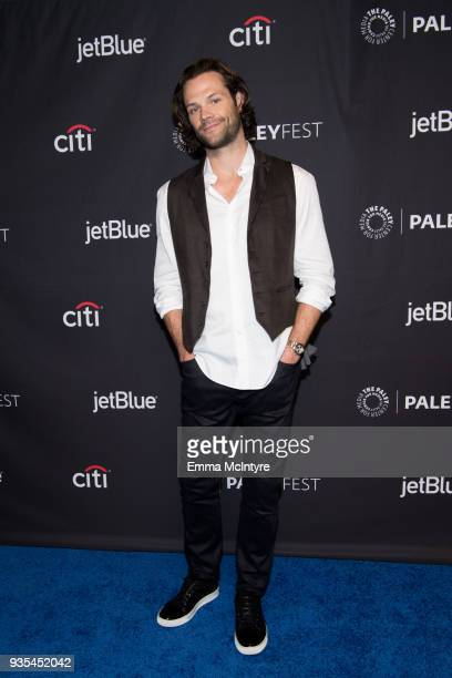 Actor Jared Padalecki attends the Paley Center for Media's 35th Annual PaleyFest Los Angeles 'Supernatural' at Dolby Theatre on March 20 2018 in...