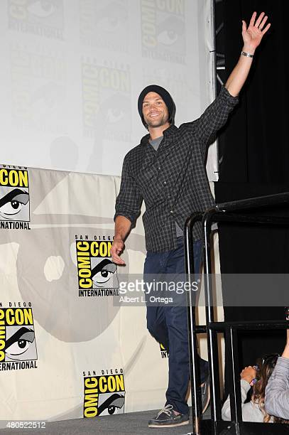 Actor Jared Padalecki attends the 'Supernatural' panel during ComicCon International 2015 at the San Diego Convention Center on July 12 2015 in San...