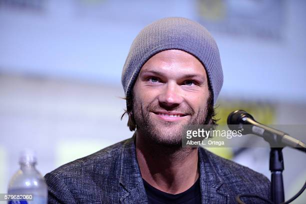 Actor Jared Padalecki attends the Supernatural Special Video Presentation And QA during ComicCon International 2016 at San Diego Convention Center on...