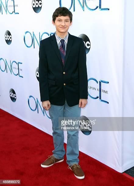 Actor Jared S Gilmore attends the Screening of ABC's 'Once Upon A Time' Season 4 at the El Capitan Theatre on September 21 2014 in Hollywood...