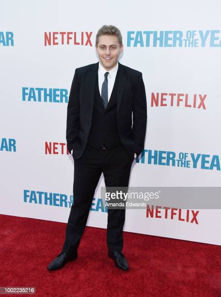 Actor Jared Sandler arrives at a special screening of Netflix's 'Father Of The Year' at ArcLight Hollywood on July 19 2018 in Hollywood California