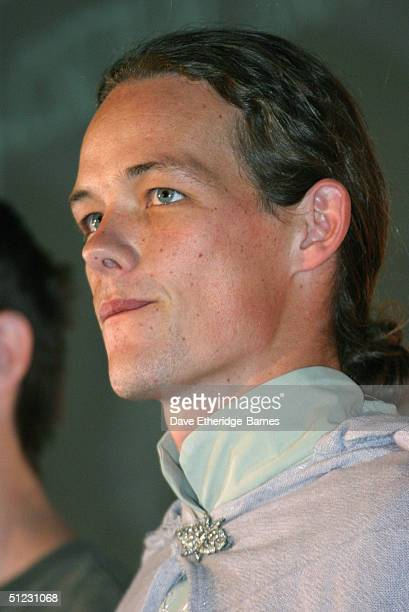 Actor Jarl Benzon is seen at The Fellowship Festival 2004 aimed at J R R Tolkien fans at Alexandra Palace on August 28 2004 in London The Lord of the...