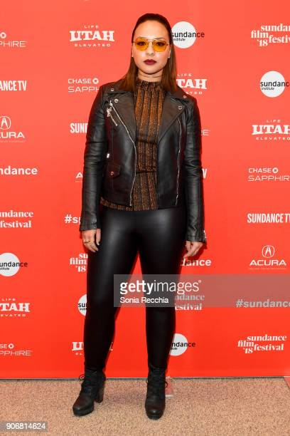 Actor Jasmine Cephas Jones attends the Blindspotting Premiere during the 2018 Sundance Film Festival at Eccles Center Theatre on January 18 2018 in...