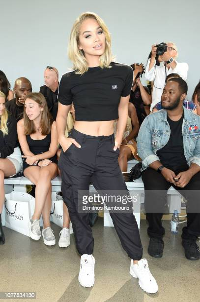Actor Jasmine Sanders attends the Nana Judy front row during New York Fashion Week The Shows at Gallery II at Spring Studios on September 6 2018 in...