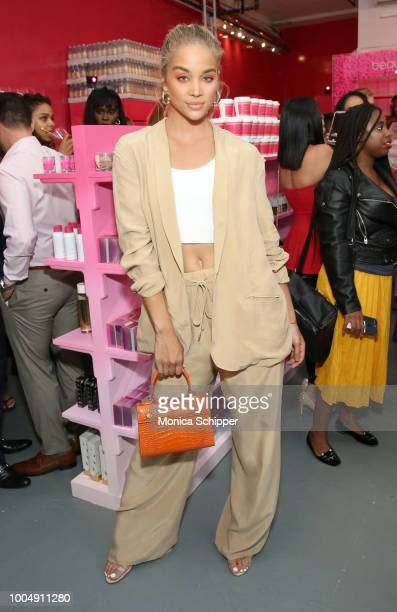 Actor Jasmine Sanders joins beautyblender to celebrate the launch of beautyblender BOUNCE Liquid Whip Foundation in New York City on July 24 2018