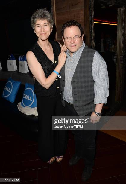Actor Jason Alexander and his wife Daena E Title attend a private event at Hyde Lounge hosted by Dell for the Beyonce concert at The Staples Center...