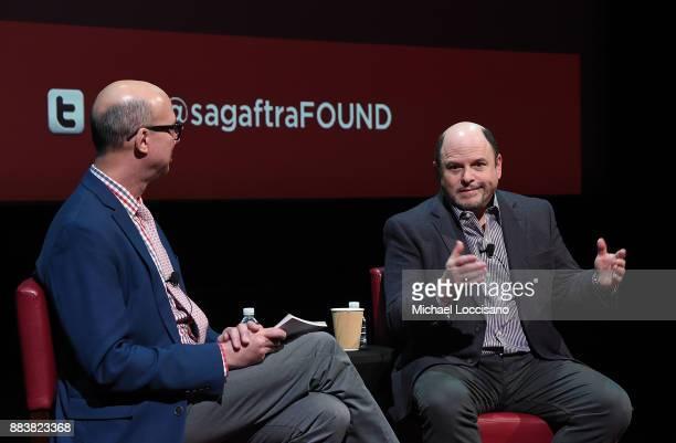 Actor Jason Alexander talks with Richard Ridge of BroadwayWorld during a SAGAFTRA Foundation Conversations On Broadway at SAGAFTRA Foundation Robin...