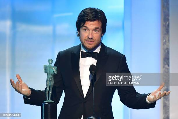 Actor Jason Bateman accepts the award for outstanding Performance by a Male Actor in a Drama Series for 'Ozark' onstage during the 25th Annual Screen...