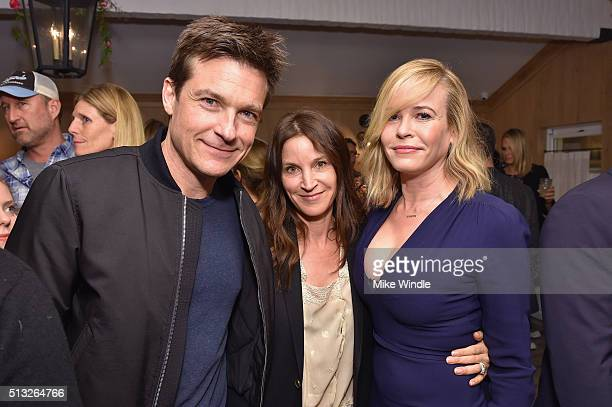Actor Jason Bateman Amanda Anka and comedian Chelsea Handler attend the Grand Opening Of Au Fudge Presented By Amazon Family on March 1 2016 in West...