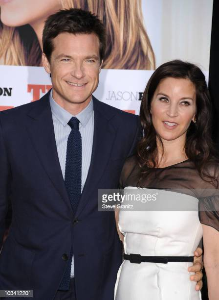 Actor Jason Bateman and actress Amanda Anka arrive to the Los Angeles Premiere of The Switch held at ArcLight Cinemas on August 16 2010 in Hollywood...