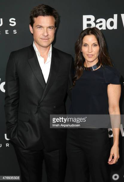Actor Jason Bateman and actress Amanda Anka attend the premiere of Focus Features' 'Bad Words' at ArcLight Cinemas Cinerama Dome on March 5 2014 in...