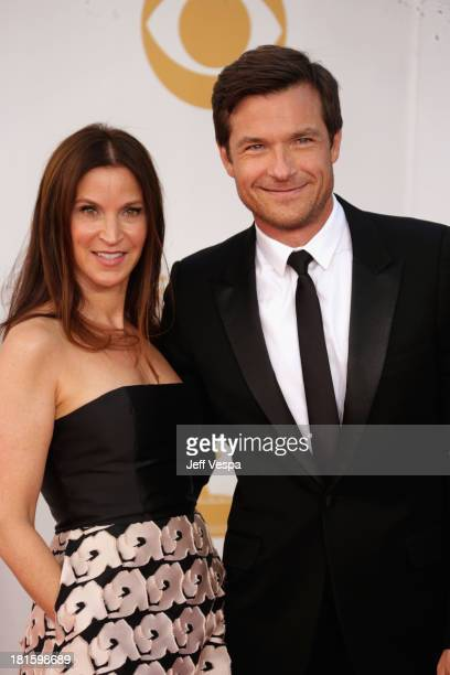 Actor Jason Bateman and Amanda Anka arrive at the 65th Annual Primetime Emmy Awards held at Nokia Theatre LA Live on September 22 2013 in Los Angeles...