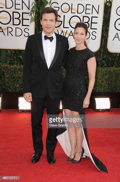 Actor Jason Bateman and Amanda Anka attend the 71st Annual Golden Globe Awards held at The Beverly Hilton Hotel on January 12 2014 in Beverly Hills...
