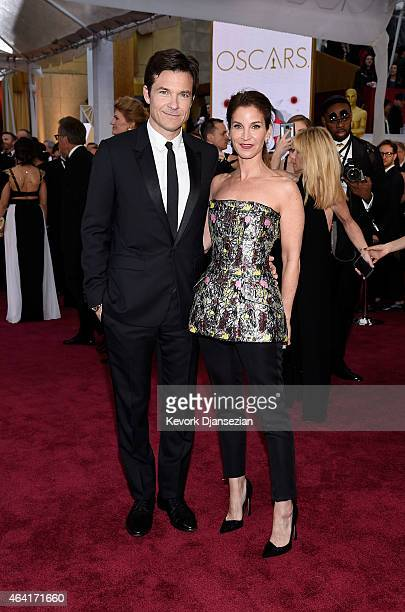 Actor Jason Bateman and Amanda Anka attend the 87th Annual Academy Awards at Hollywood Highland Center on February 22 2015 in Hollywood California