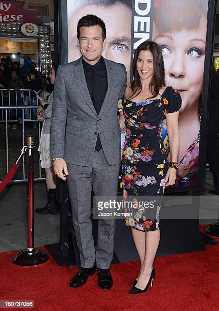 Actor Jason Bateman and Amanda Anka attend the Premiere Of Universal Pictures' Identity Thief on February 4 2013 in Westwood California
