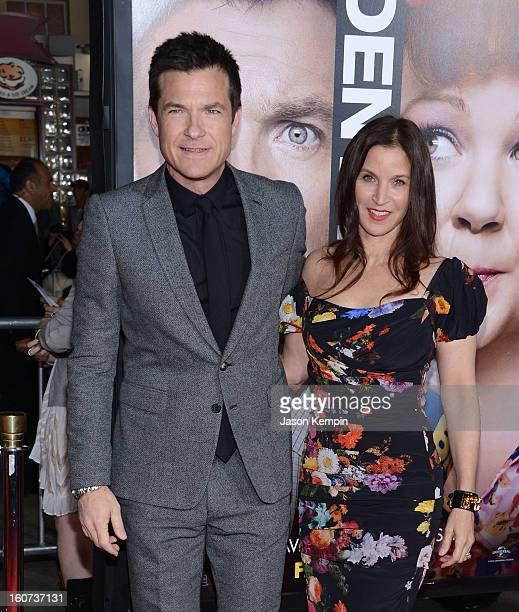 """Actor Jason Bateman and Amanda Anka attend the Premiere Of Universal Pictures' """"Identity Thief"""" on February 4, 2013 in Westwood, California."""