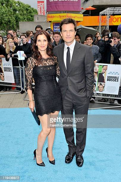 Actor Jason Bateman and Amanda Anka attend the UK film premiere of Horrible Bosses at BFI Southbank on July 20 2011 in London England