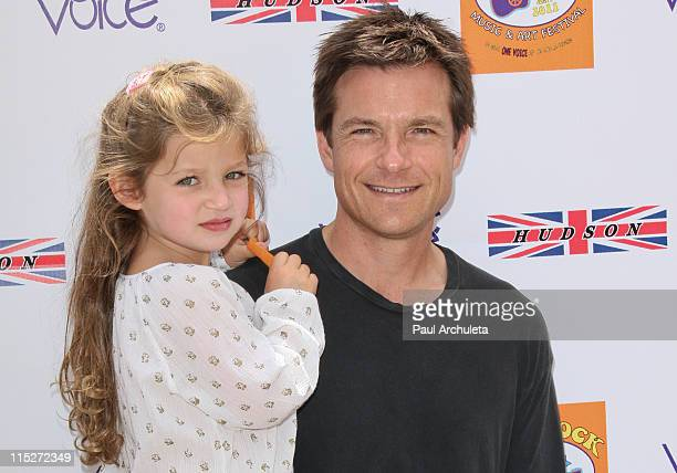 Actor Jason Bateman and daughter Francesca Bateman arrive at the 5th annual Kidstock Music Arts Festival at Greystone Mansion on June 5 2011 in...