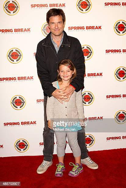 Actor Jason Bateman and daughter Francesca Nora Bateman attends the City Year Los Angeles Spring Break Fundraiser at Sony Studios on April 19 2014 in...