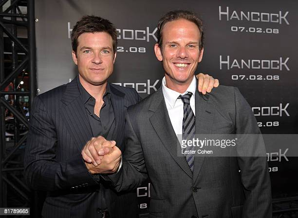 Actor Jason Bateman and director Peter Berg arrive at the World Premiere of Columbia Pictures 'Hancock' at Grauman's Chinese Theatre on July 30 2008...